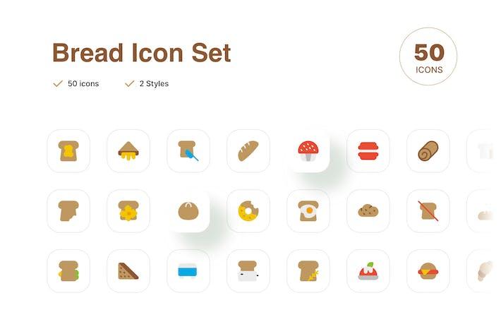 Thumbnail for Bread Icon Set