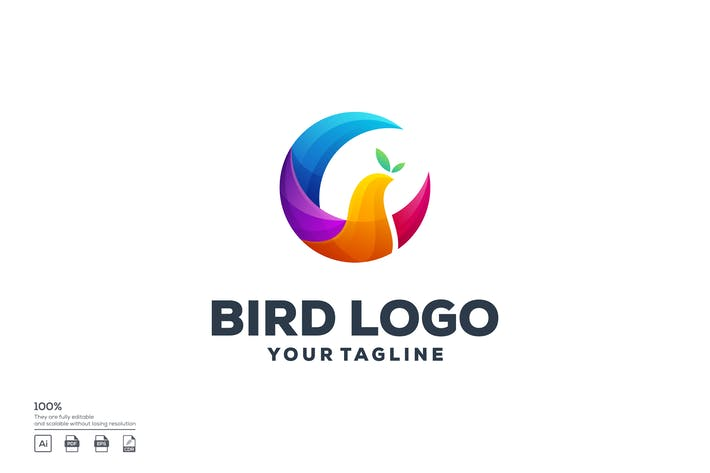 Thumbnail for Bird circle logo design