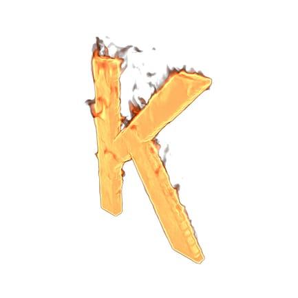 Feuer-Buchstabe K