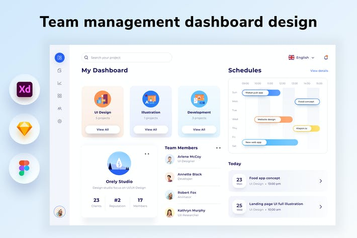 Thumbnail for Team Management Dashboard