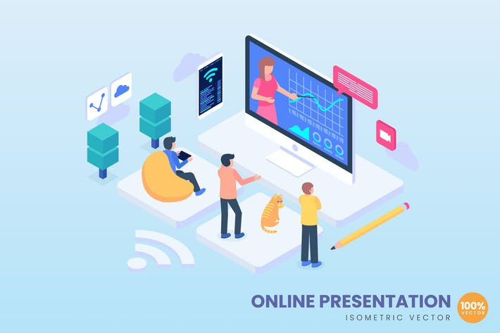 Thumbnail for Online Presentation Concept Illustration