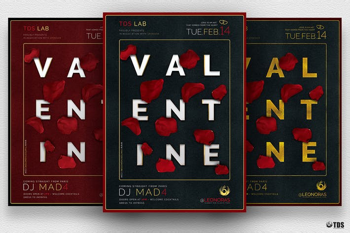 Thumbnail for Valentines Day Flyer Template V10
