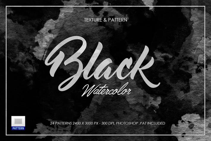 Thumbnail for Black Dark Watercolor Texture