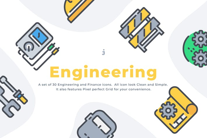 Thumbnail for 30 Engineering icon set
