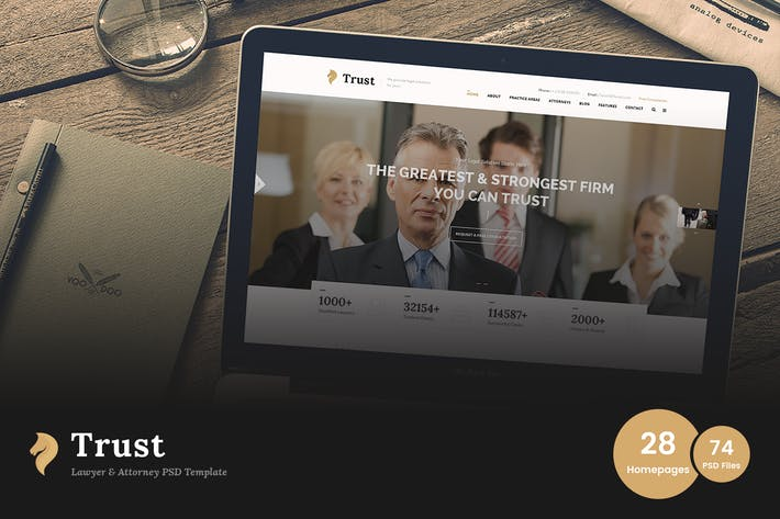 Thumbnail for Trust - Lawyer & Attorney Business PSD Template