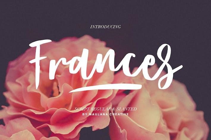 Frances Modern Font
