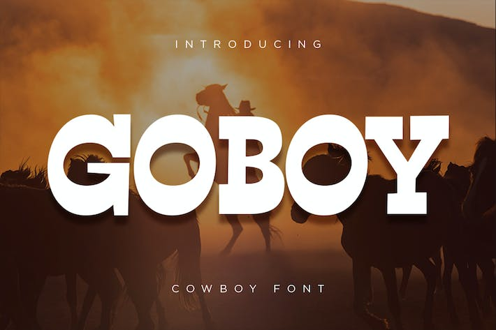 Thumbnail for Go Boy - Cowboy Font