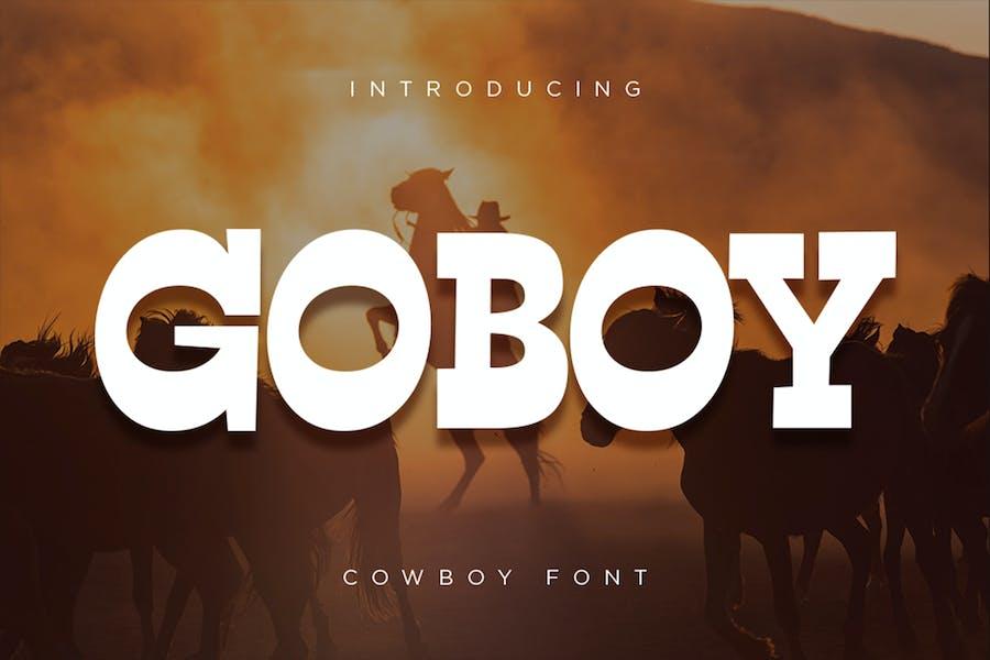 Go Boy - Police de Cowboy
