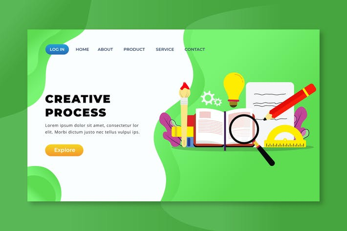 Thumbnail for Creative Process - XD PSD AI Landing Page