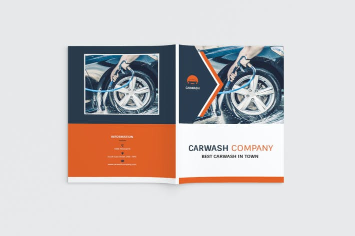 Thumbnail for Autowash - A4 Car Wash Brochure Template