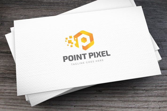 Thumbnail for Point Pixel Letter P Logo Template