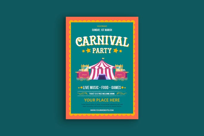 Thumbnail for Carnival Party Poster