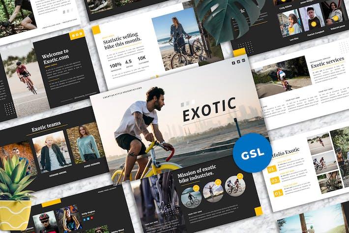 Thumbnail for Экзотические - Творческий Шаблон Googleslide