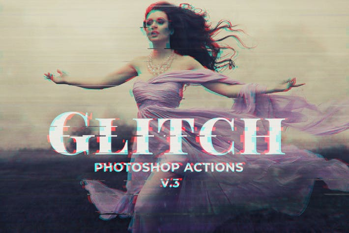 Thumbnail for Glitch Photoshop PSD Template Ver. 3