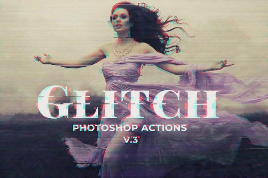Glitch Photoshop PSD Template Ver. 3