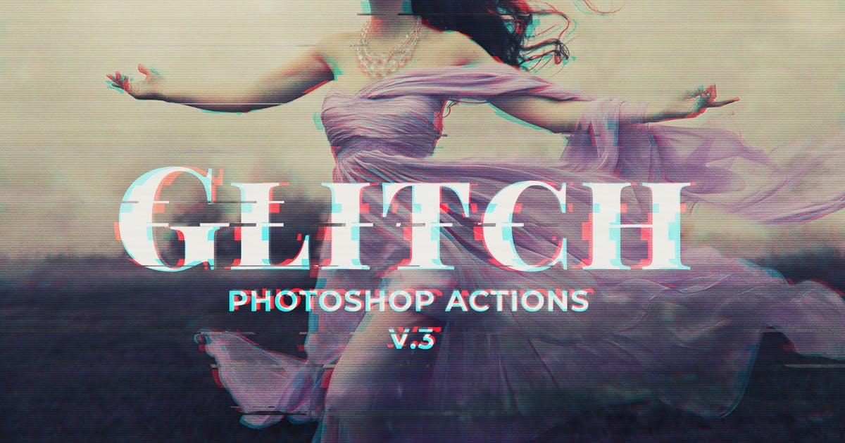Download Glitch Photoshop PSD Template Ver. 3 by creativetacos