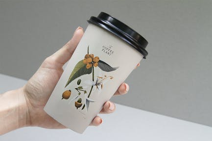 Coffee Beans Cup Mockup