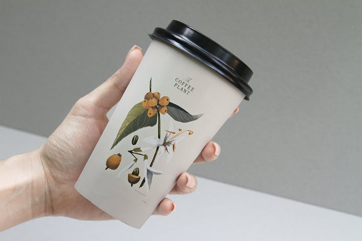 Thumbnail for Coffee Beans Cup Mockup