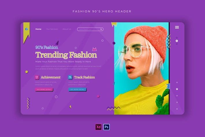 Thumbnail for Fashion 90er | Hero Header