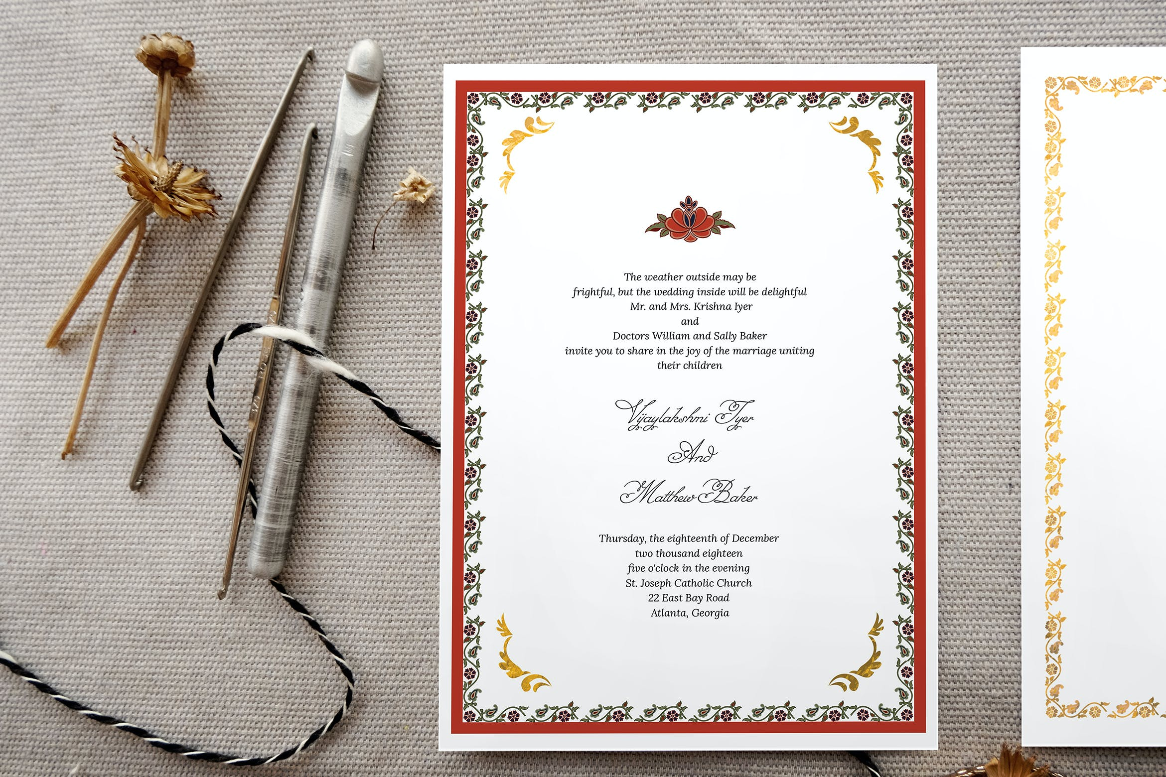 Indian Wedding Invitation Card by Squirrel92 on Envato Elements