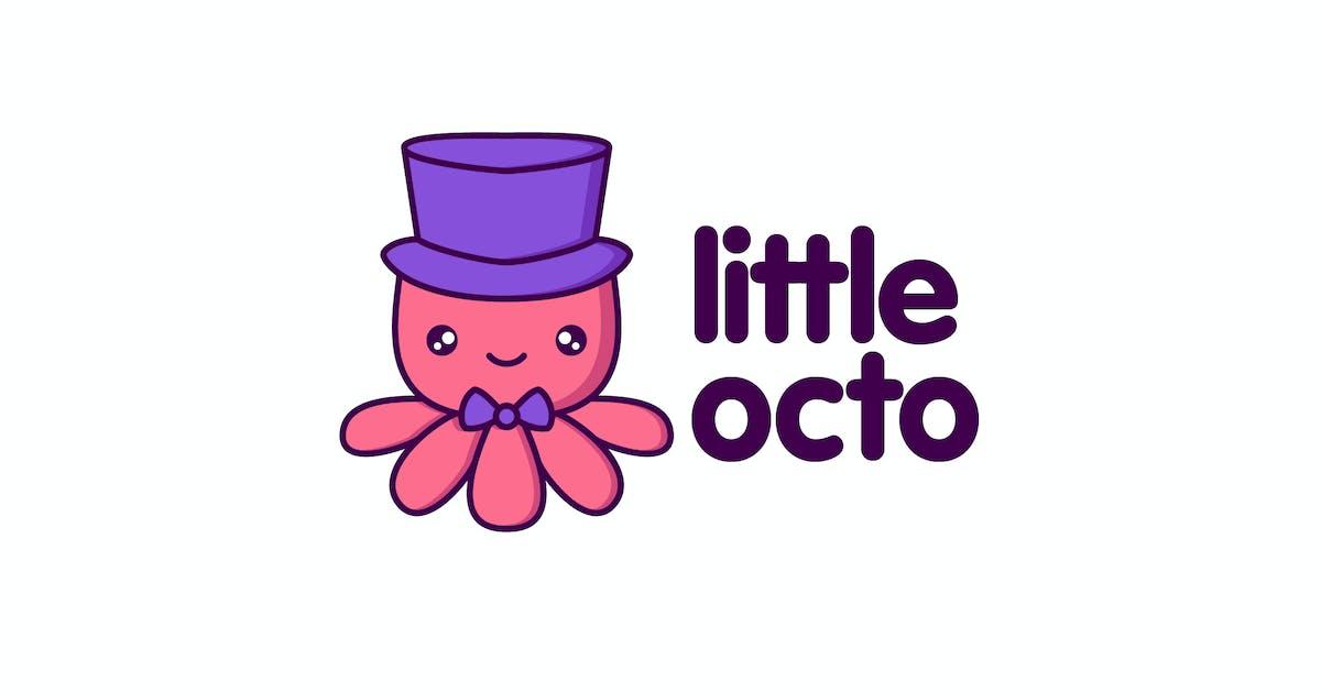 Download Cartoon Cute Little Octopus Character Mascot Logo by Suhandi