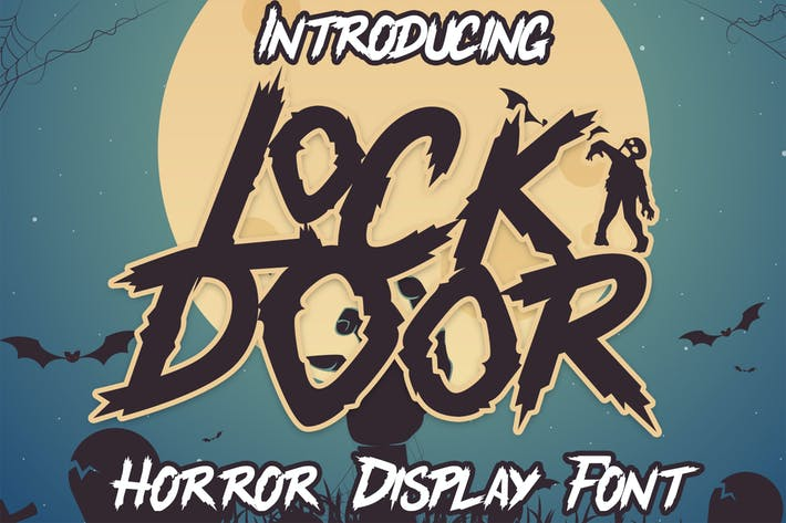 Thumbnail for Lockdoor - Halloween Font