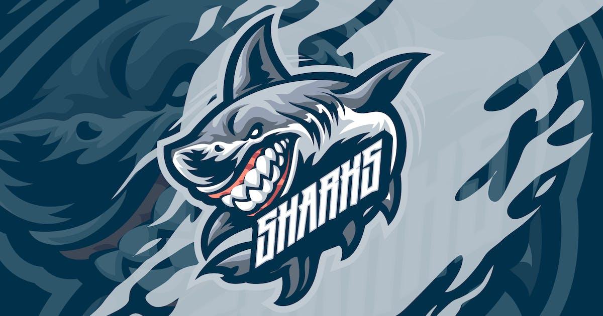 Download White Sharks Mascot Logo template by febryangraves