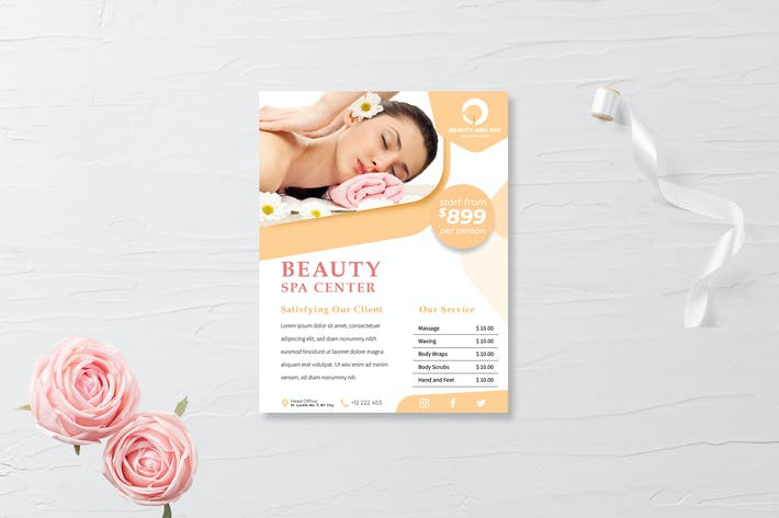 Thumbnail for Spa flyer template