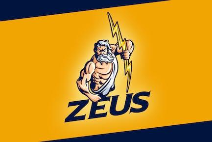 Classic Zeus Character Mascot Logo