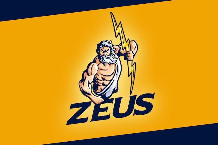 Thumbnail for Classic Zeus Character Mascot Logo