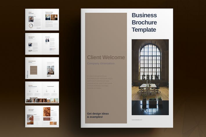 Thumbnail for Brown Brochure Template