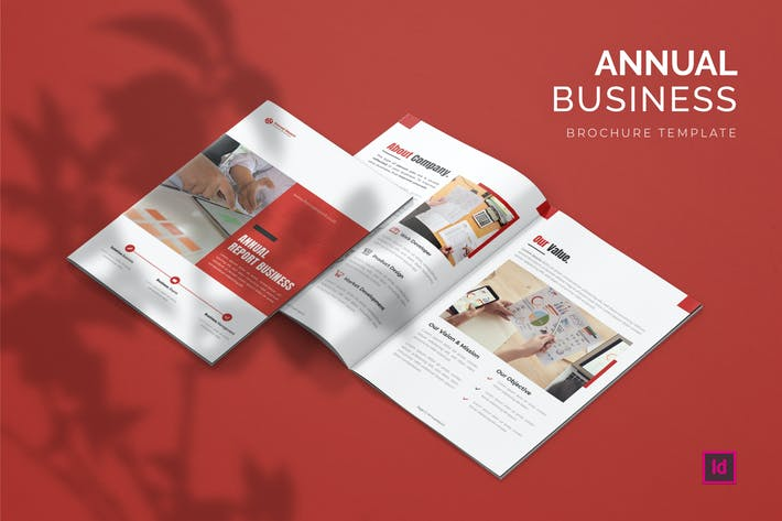 Thumbnail for Annual Report Business - Brochure Template