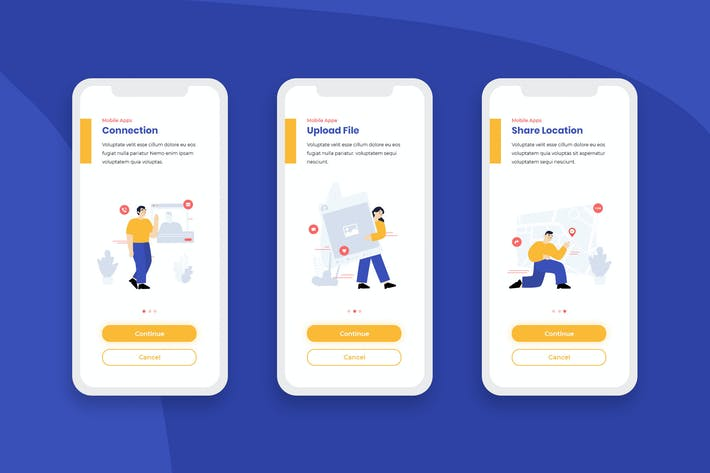 Thumbnail for Onboarding Screens Mobile App