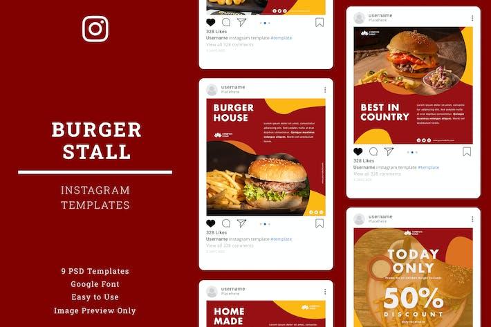 Thumbnail for Burger Instagram-Vorlage