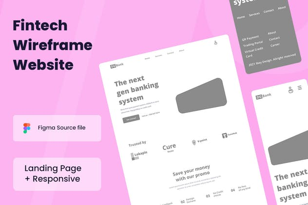 Fintech Wireframe Website