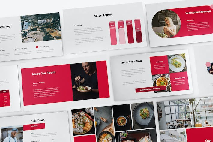 Thumbnail for Japanese Food Google Slides Template