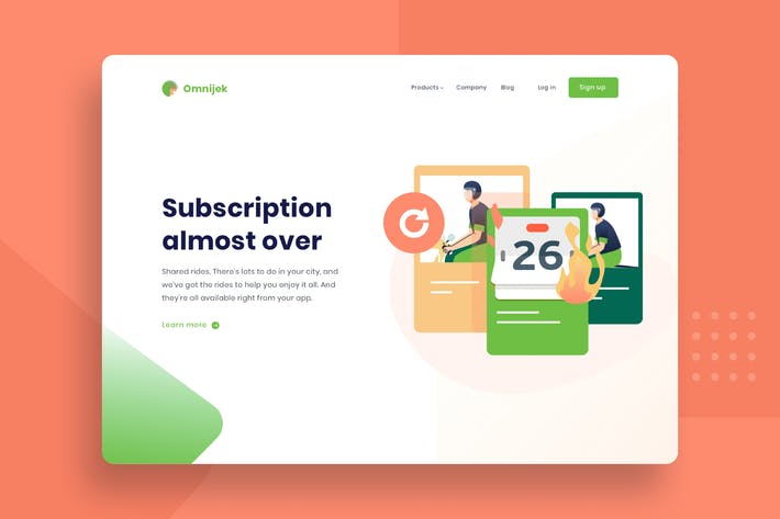 Thumbnail for Renew subscription vector template illustration