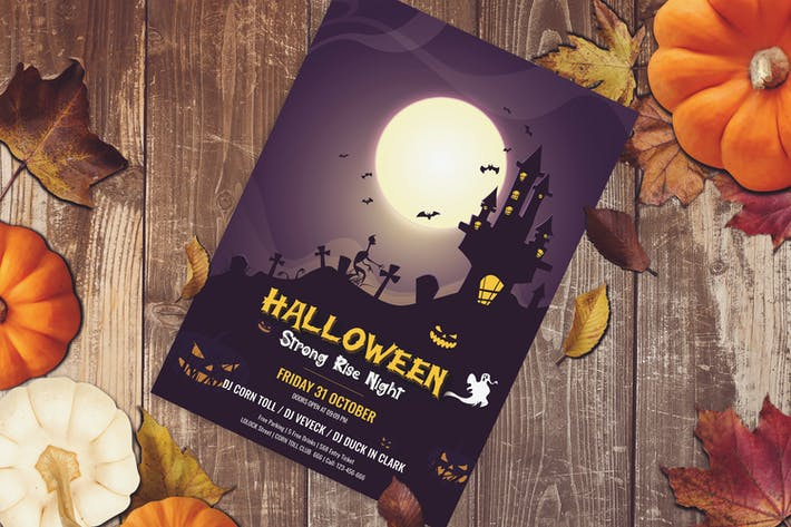 Thumbnail for Halloween Flyer, Halloween Party Flyer