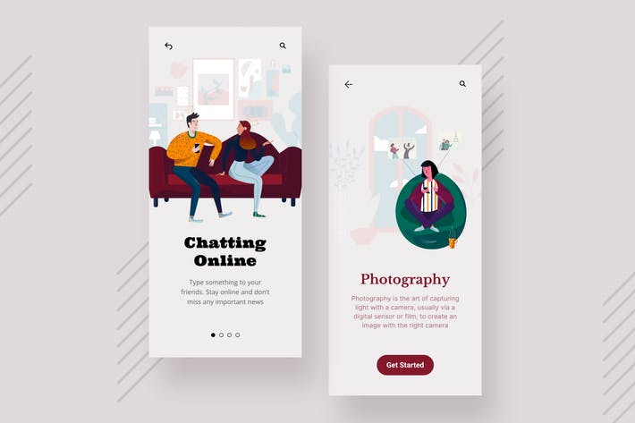 Thumbnail for Photography Mobile Interface Illustrations
