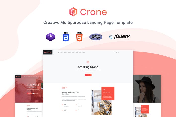 Thumbnail for Crone - Multipurpose Landing Page Template