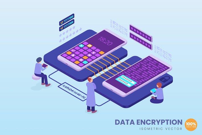 Isometric Data Encryption Concept