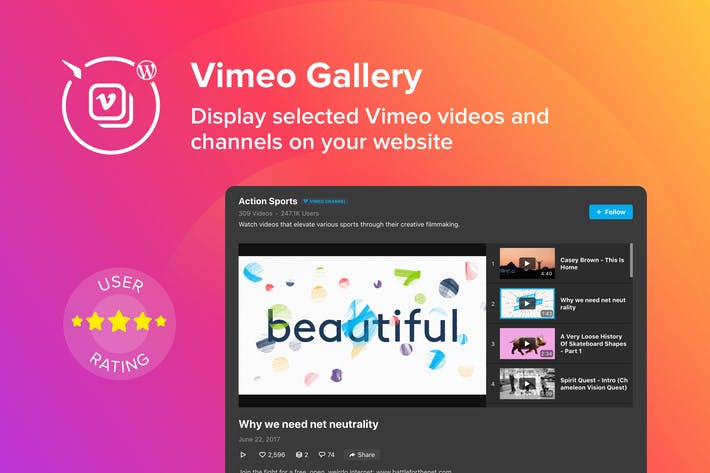 Thumbnail for WordPress Vimeo Gallery Plugin