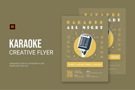 Karaoke All Night - Flyer