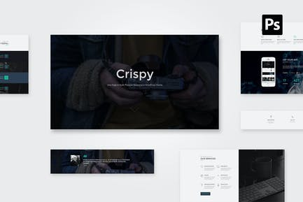 Crispy   One Page PSD