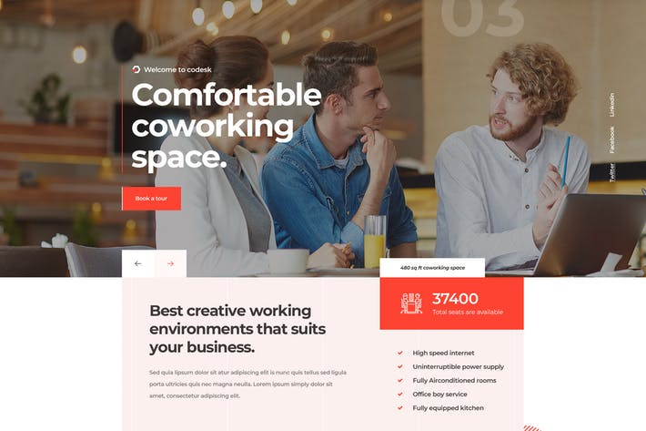 Thumbnail for Codesk - Creative Office Space WordPress Theme