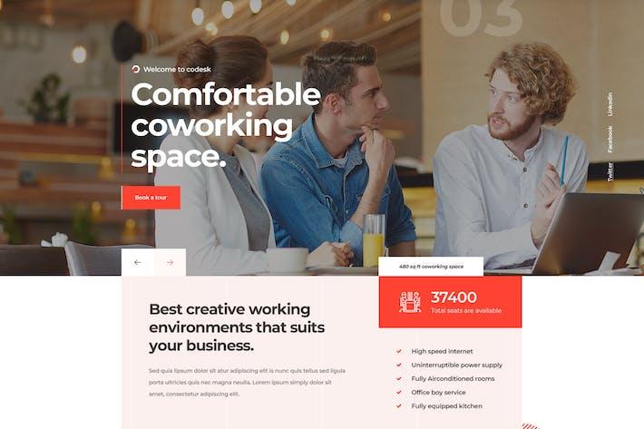 Thumbnail for Codesk - Kreative Büroflächen WordPress Thema