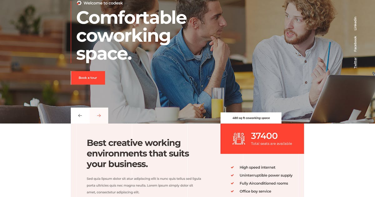Download Codesk - Creative Office Space WordPress Theme by gavias