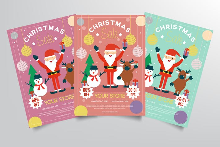 Thumbnail for Christmas Sale Flyer Template
