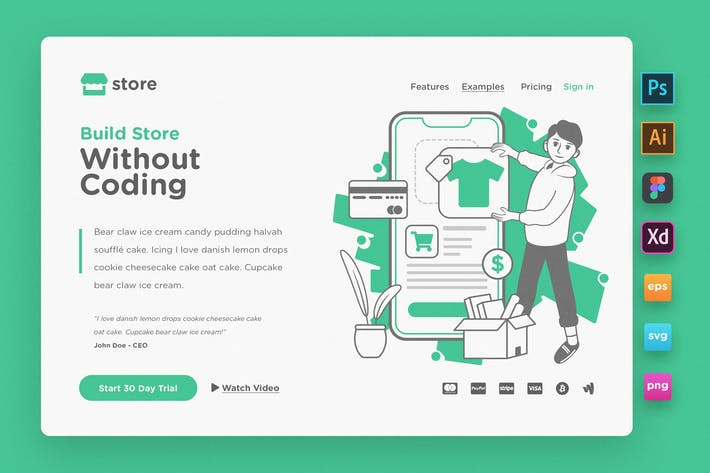 Thumbnail for Landing Page V06 - Ecommerce