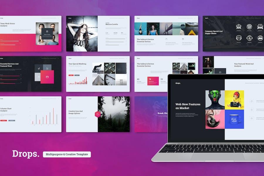 Drops - Creative & Multipurpose Theme (Powerpoint)